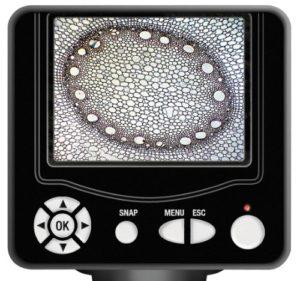 Bresser LCD-Mikroskop 50x-500x (2000x digital), 5 Megapixel, 8.9cm (3.5