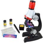 100x 400x 1200x Junior Mikroskop Kit mit Integrierte LED-elektrische Beleuchtung for Schüler und Kinder - 1