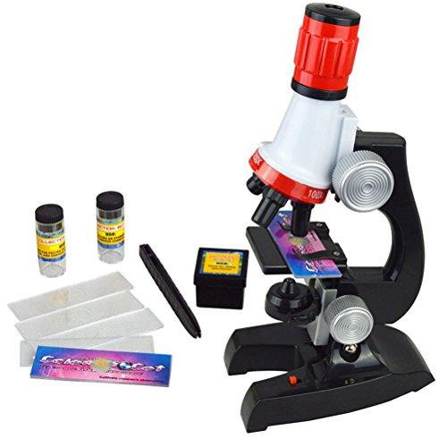 100x 400x 1200x Junior Mikroskop Kit mit Integrierte LED-elektrische Beleuchtung for Schüler und Kinder
