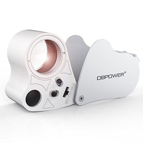 30x 60x Fach LED Leselupe Juwelier Uhr Vergrößerungsglas Faltbar Taschenlupe Magnifier