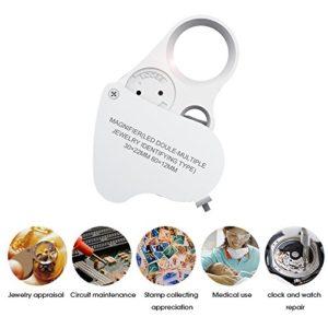 30x 60x Fach LED Leselupe Juwelier Uhr Vergrößerungsglas Faltbar Taschenlupe Magnifier - 2